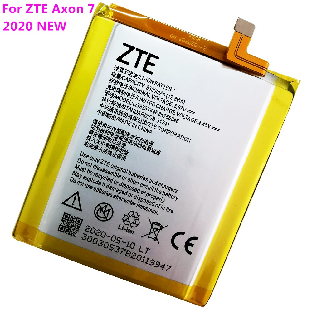 2020 Original New LI3931T44P8H756346 Battery For ZTE Axon 7 5.5inch A2017 Battery 3320mAh With Tracking Number