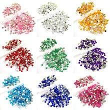 Alta qualidade 4mm 5mm 6mm 7mm 8mm 10mm acrílico strass flatback redondo diamantes ab cristais para artesanato diy gemas #300609