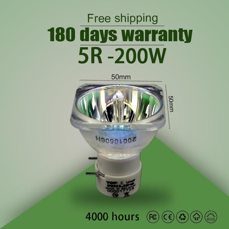 5R 200W Power supply ballast High quality 5R Lamp MSD Platinum 5R For 200W Sharpy Moving head beam light bulb stage light R5