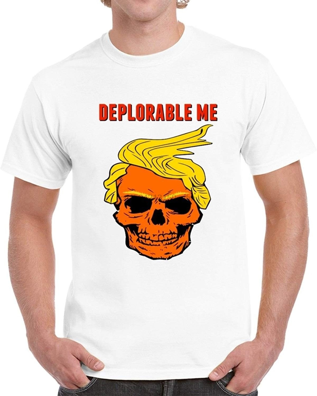 Trendy Tees Deplorável Me Donald Trump Cabelo Crânio Camisa Engraçada de T por TrendyTees Sátira Política Da Novidade Tee
