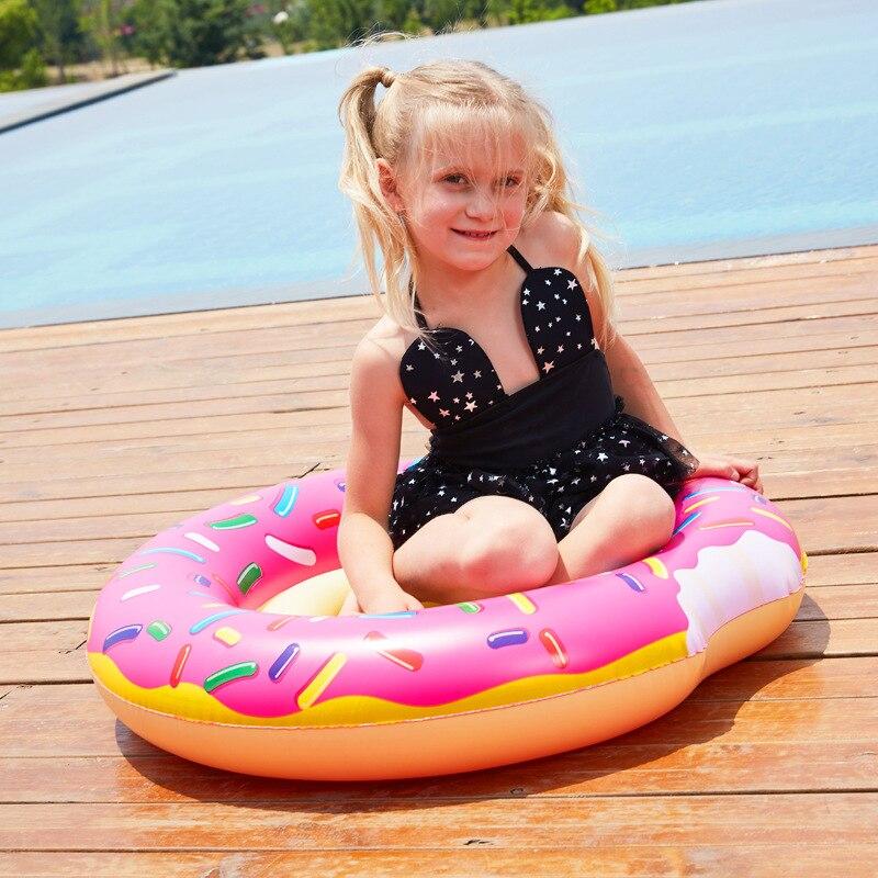 Купить с кэшбэком Babydonut Swimming Tube Inflatable Pedestal Ring Safety Anti-lodging Children 's Seat Swimming Pool Swimming Water Movement PVC