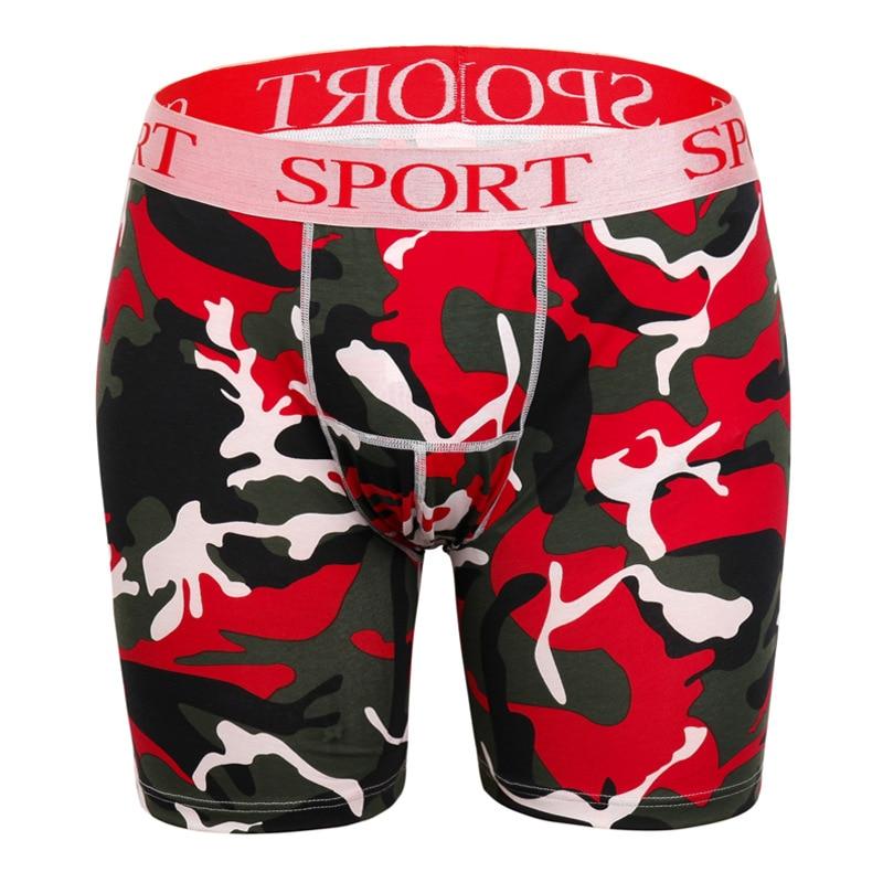 New Ethika Bear Printing Men Long Boxer Brief Sports Shorts Underpants Size L