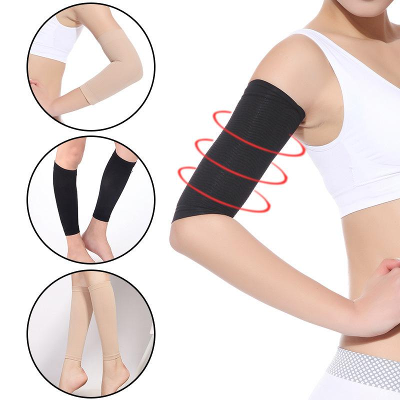 MISSKY 2 Pcs Women Weight Loss Thin Arm Fat Slimmer Wrap Elasticity Belt Arms Sleeve Solid Color Female Arm Warmers