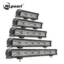 Nlpearl barre lumineuse/lumière de travail barre de Led Offroad 12V 24V 60W 120W 180W LED lumière de travail pour camions tracteur tout-terrain 4x4 SUV ATV bateau