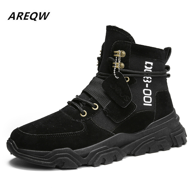 Sports Shoes British Wind with Flat Bottom Skid Autumn and Winter Martin Boots 4