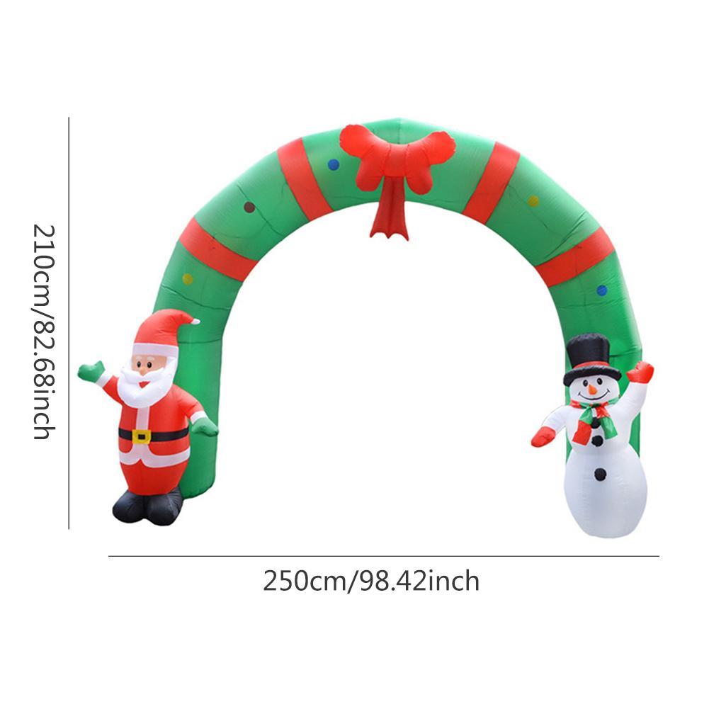 Estilo de natal Arcos de Balão Loja Casa Feliz Decoração de Natal Arco Inflável Papai Noel Xmas Party Ornamento 3D - 6