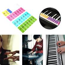 Hot Sale Piano Keyboard Sticker Moderate Viscosity Portable 88/61/51 Keys Music Decal Label Note Electronic Piano Sticker(China)