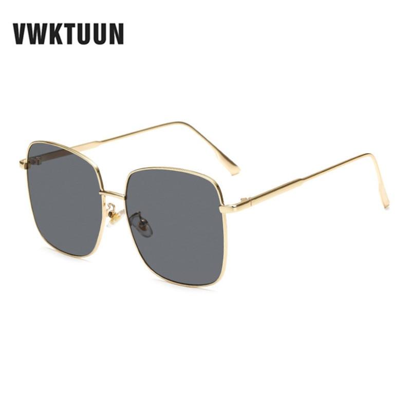 Retro Square Sunglasses Metal Frame Glasses Men Women Vintage Eyewear