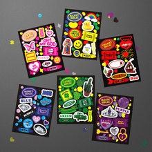 Korea Creative Kawaii Polaroid Charm Sticker DIY Scrapbook Mobile Diary Stationery Couple Gift Decoration Stickers