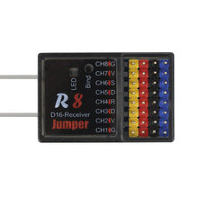 Jumper r8 receptor 16ch sbus compatível frsky d16 d8 jumper t16 t12 modo rádio controle remoto para pix px4 controle de vôo