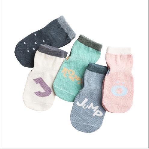 5pairs 0-5Year Autumn and winter new children's kids boy girl socks dispensing non-slip baby floor socks 2