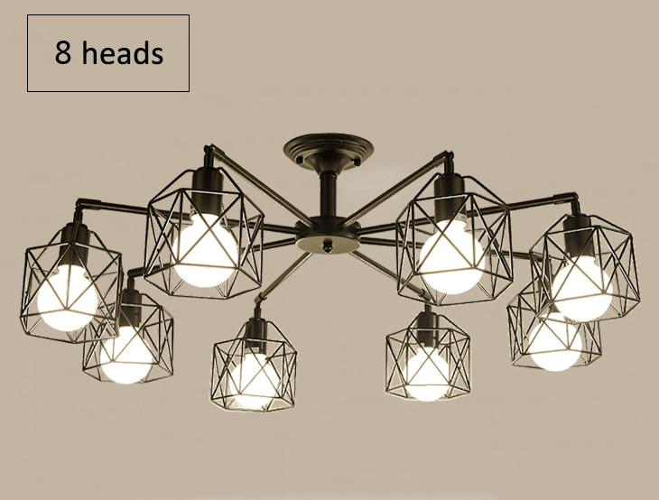 Hbfc1c69128ef4f4b9876a912f9f525d7p Modern Black Chandelier Lighting American Iron Cage Ceiling Lamp Light Fixtures Kitchen luminiare Bedroom Living Room Home Light