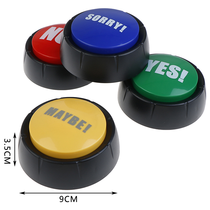 YES And NO SORRY MAYBE Green Red Event & Party Tools Supplies Sounding Toys Holiday Decorations Creative Sound Button Toys