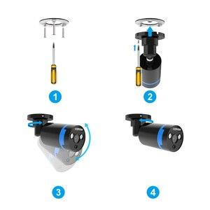 Image 3 - H. Görüş güvenlik kamera sistemi 8ch CCTV sistemi 4 1080P güvenlik kamerası Video gözetim kiti 8ch DVR Video gözetleme açık