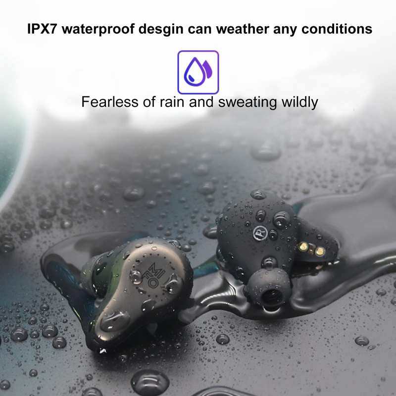 Mifo O7 ipx7 Waterproof Mini Stereo Touch Earphones Wireless Earbud Bluetooth 5.0 Handfree Support Apt-x For iPhone Samsung