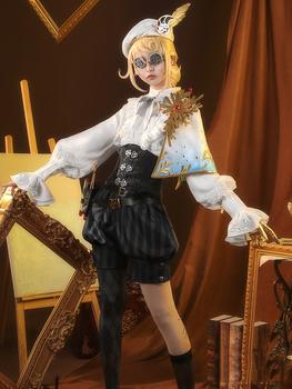 Gra Identity V Valden Painter Alchemist Gold Skin jednolite przebranie na karnawał kostium na Halloween dla kobiet strój nowy 2020 tanie i dobre opinie CN (pochodzenie) Spodnie GAME Unisex Dla dorosłych Zestawy Poliester Kostiumy Polyester chiffon Cosplay Costume full set as picture