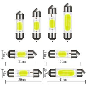 1 шт. C5W C10W светодиодный COBLamps гирлянда 31 мм 36 мм/39 мм/41 мм 12V белые лампы для автомобилей номерного знака интерьер и чтение светильник|Сигнальная лампа|   | АлиЭкспресс