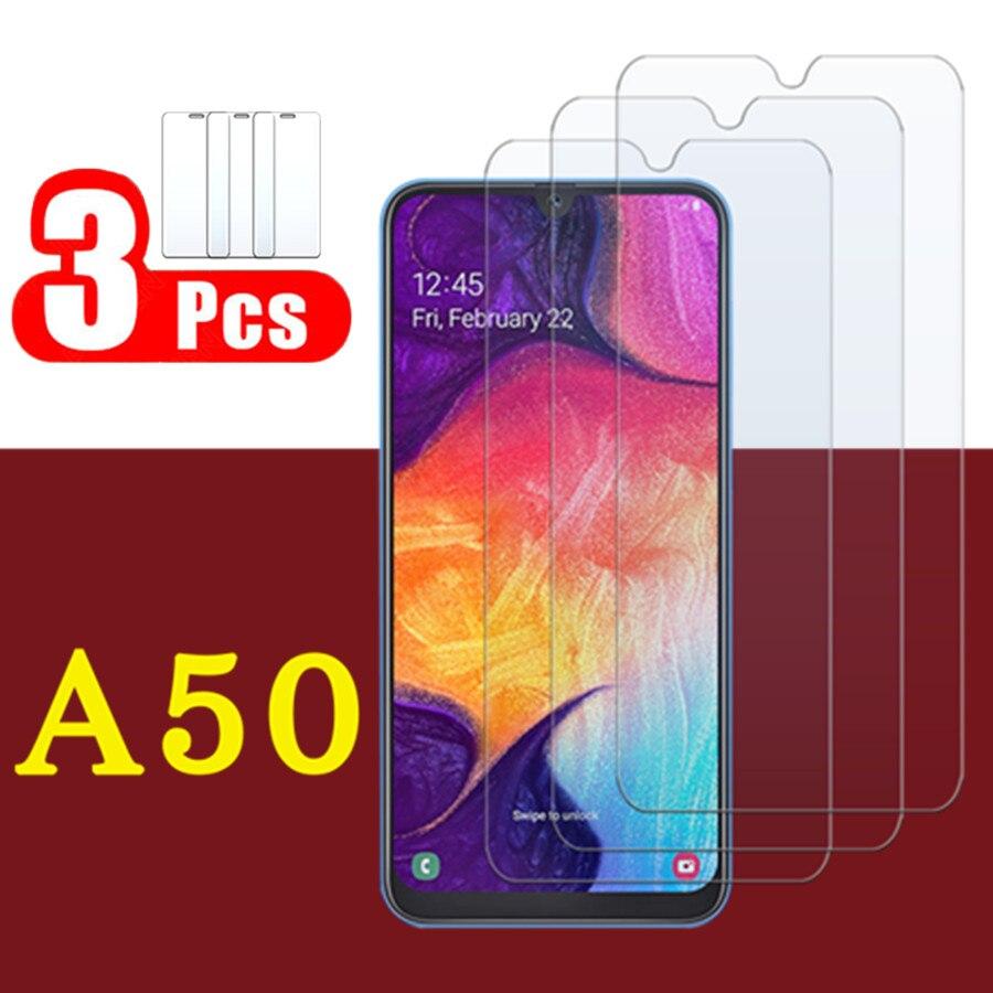 Proteção de vidro para samsung galaxy um 50 temperado filme de vidro a50 tremp sansung 50a protetor de tela alta definição capa completa