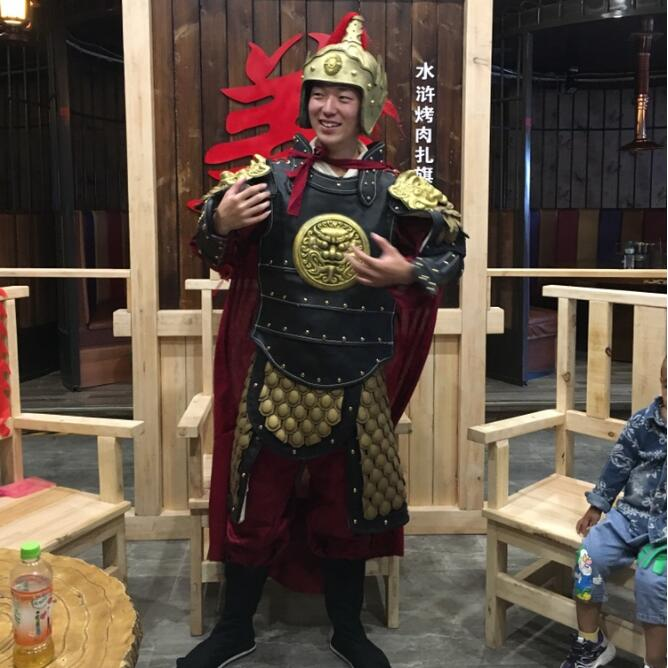 Ancient China Military  wear general armour clothing men film TV Armor drama Outfit performance clothing customization Costume