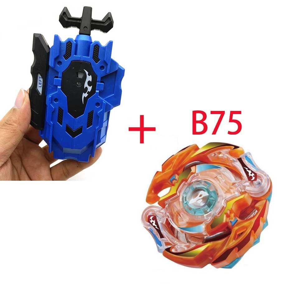 Волчок Beyblade BURST B-130 B-117 с пусковым устройством Bayblade Bay blade металл пластик Fusion 4D Подарочные игрушки для детей - Цвет: B75