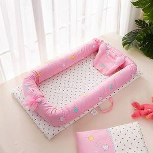 Image 5 - 2 個/3 個ベビー巣ベッドベビーベッドポータブルリムーバブルと洗えるベビーベッド旅行ベッド子供のマットレス