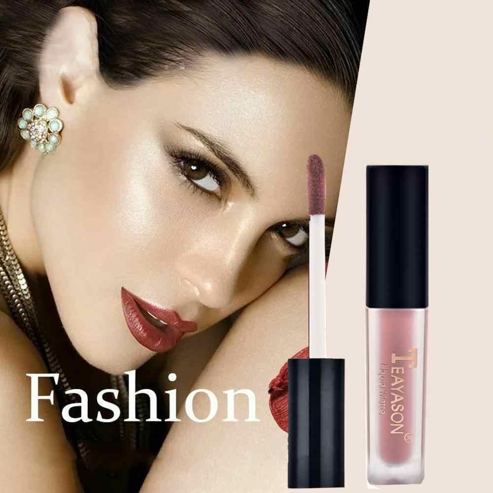 12 colori Donna fashion liquido Rossetto Set Lipgloss Trucco Nude Opaco Velluto Lucidalabbra Rosso Naturale Crema Idratante