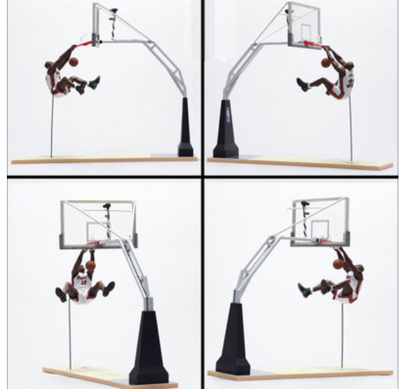 Slam Dunk Basketball Stand Model Toy Backboard Hanamichi Sakuragi Kaede Rukawa Action Figure Kids Toys 30cm