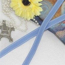 Одноцветная лента небесно-голубого цвета для украшения дома, лента для рукоделия, рукоделия, швейная лента для рукоделия, галстук-бабочка для волос