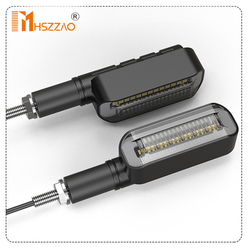 2Pcs 12V Motorcycle LED Left and Right Turning Lights Directional Lights Daytime Running Lights Front and Rear Direction Lights