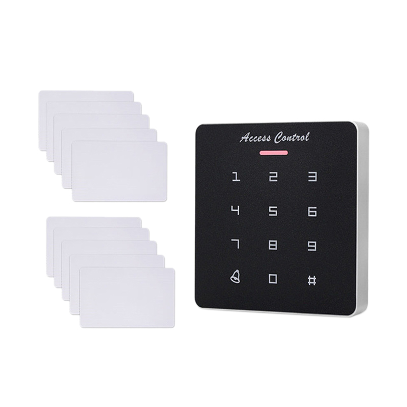DC12V Electronic Access Control Keypad <font><b>RFID</b></font> Card Reader Access Controller with Door Bell Backlight for Door Security Lock System image