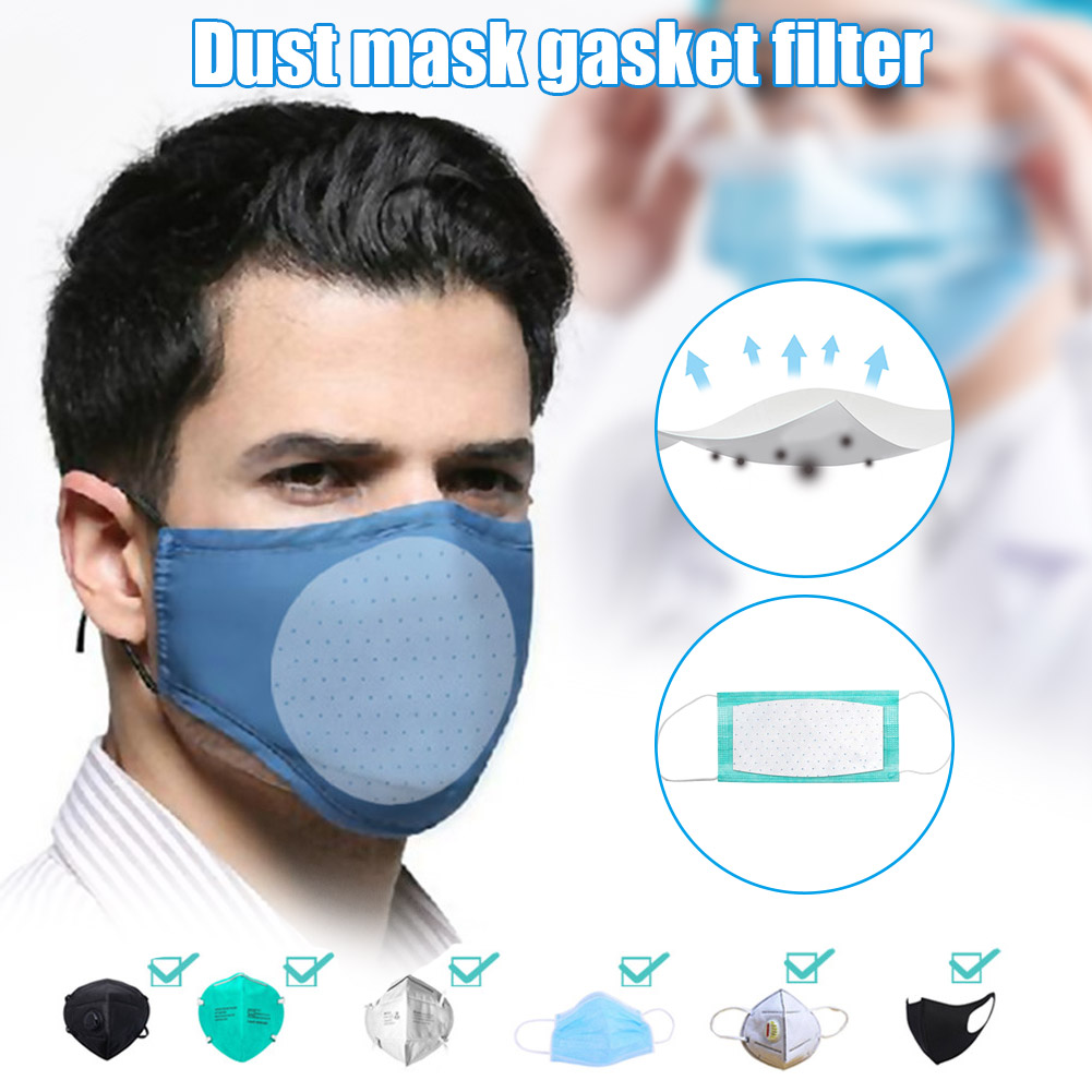 10 Pieces Set Of 3 Layers Dust Mask Filter Element Disposable Mouth Nose Face Care Extension Nonwoven Fabric Mask Filter Element