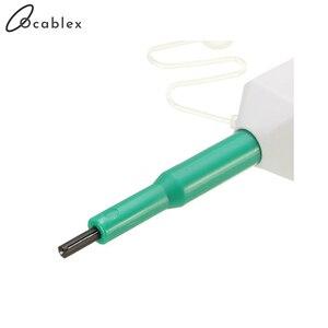 Image 4 - 5 teile/los Fiber Optic Reiniger SC Einem Klick Reiniger Fiber Optic Connector reinigung werkzeug 2,5mm Universal Connector Kostenloser Versand