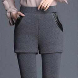 CHRLEISURE Plus Velvet Leggings Women High Waist Thick Warm Casual Pants Women Winter Slim Ankle-length