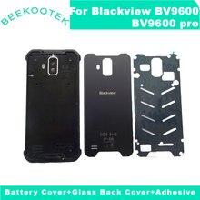 Neue Original Blackview BV9600 Batterie Gehäuse Tür Abdeckung Lautsprecher Zurück Glas IP68 Fall Für BV9600 Pro