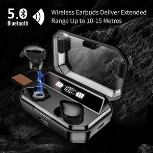 Image 5 - X12 TWS 4000mAh Earphone Stereo Wireless Bluetooth Earphones Headphones Waterproof Earbuds With LED Display with Mic Touch Key