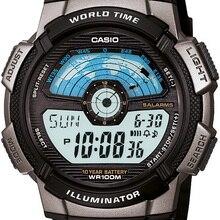 Casio AE-1100W-1AVDF Men Digital Wristwatch-10 Year Battery Life-Stylish Model Europe America Fashion Watches 100% Original