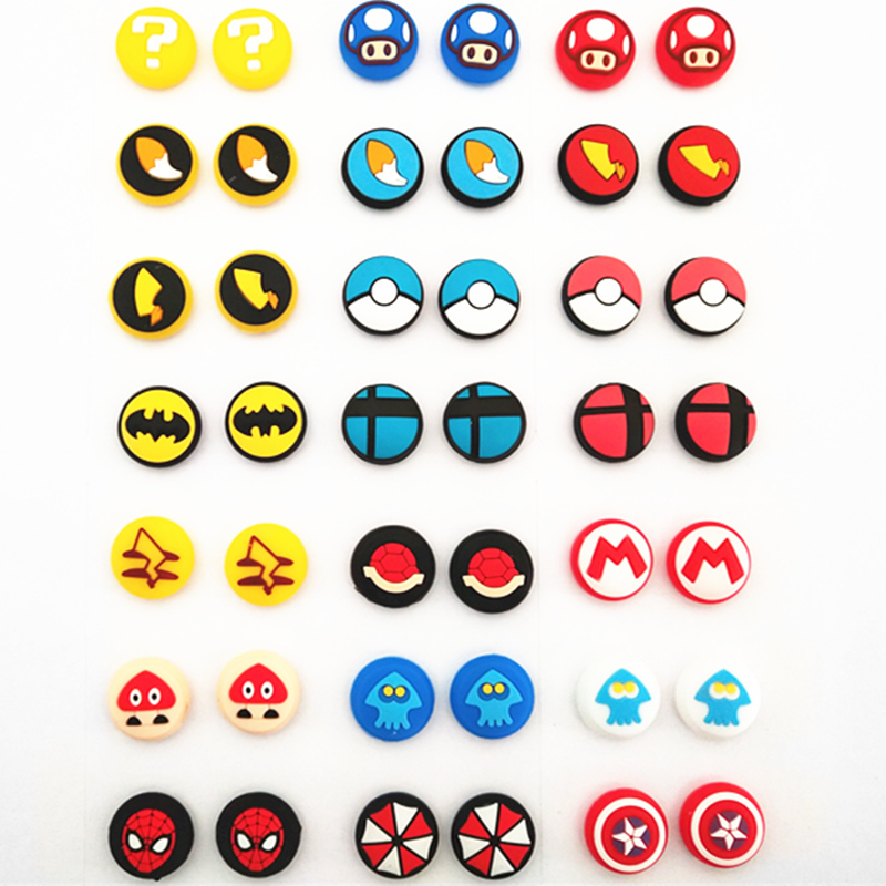 2pcs Silicone Analog Joystick Grips For Nintend Switch NS JoyCon Controller Thumb Sticks Cap Skin For Joy Con Cover Accessories