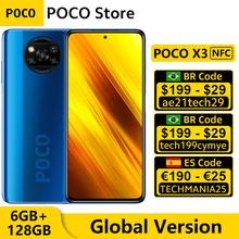 Globalna wersja POCO X3 NFC 6GB RAM 128GB ROM Snapdragon do telefonu komórkowego 732G Octa Core 6 67 #8222 DotDisplay 64MP Quad Camera tanie tanio Niewymienna inny CN (pochodzenie) Android Zamontowane z boku ≈64MP 5160 Quick Charge 3 0 english Rosyjski Niemieckie French