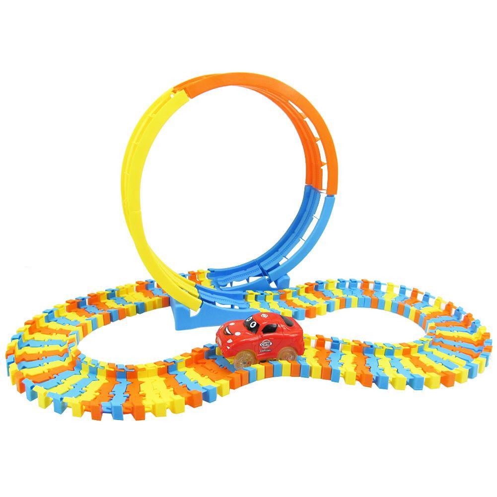 Building Blocks Track Toy DIY Building Block Track Toys Set Track Blocks Assembled Toys Children Educational Toys For Kids Gift
