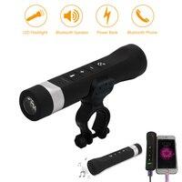 Luce per bici Wireless Bluetooth Audio 2200mAh banca di potere mobile bicicletta anteriore LED torcia lampada USB ricaricabile luce per ciclismo