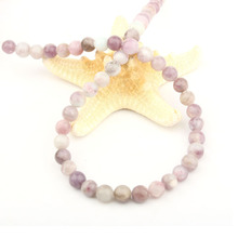 Charm Natural Stone Loose Beads Round Shape Lilac stone for Jewelry Making DIY Necklace Bracelet Accessorie 4 6 8 10 12mm natural stone coral beads round shape loose beads isolation beads for jewelry making diy for bracelet necklace accessories