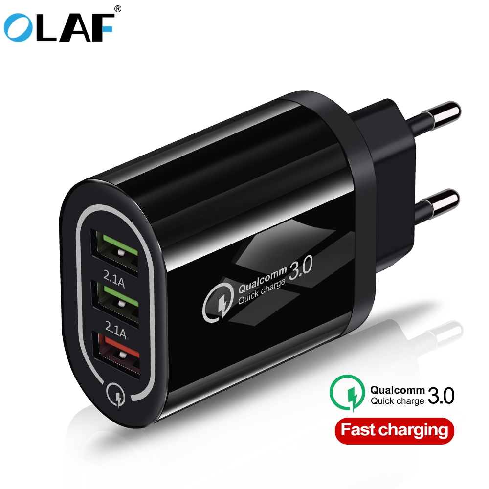 OLAF Usb-Charger Wall-Phone QC3.0 Note-7 Xiaomi Redmi Samsung S10 18W For 3-Port