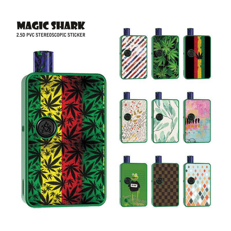 Magic Shark Ultra Thin Painting PVC Stereo Sticker Case Film Cover Skin For Asvape MICRO ELF
