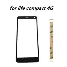 5.0 นิ้วหน้าจอสัมผัสสำหรับ Fly Life ขนาดกะทัดรัด 4G แผงกระจก Digitizer หน้าจอสัมผัสสำหรับ Fly Life Compact 4G