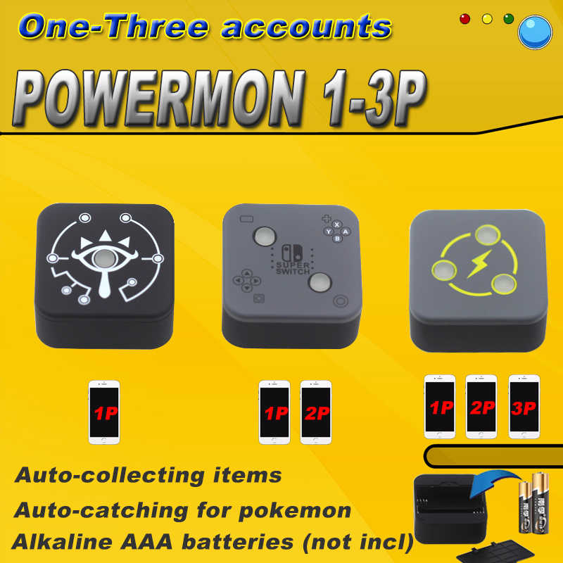 1P 2P 3P Powermon Auto Vangst Spel Accessoire Voor Pokemon Gaan Plus Bluetooth Interactieve Smart Speelgoed Losschroeven de Cover Installeren Batte