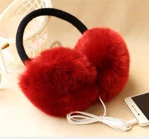 Image 5 - New Arrival Plush headphones winter Headset ear warmer earmuffs music Cartoon earmuffs Headphone for Girls