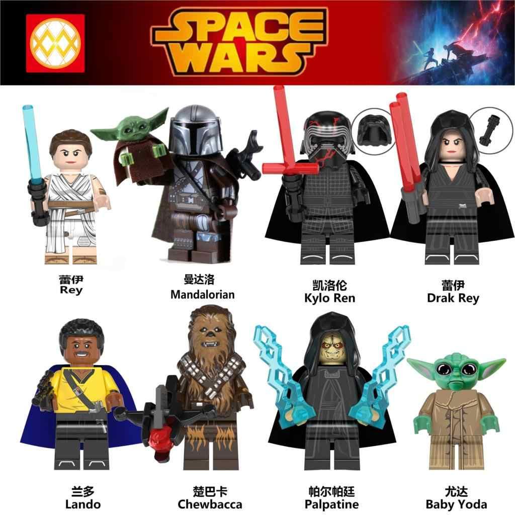 Legoed Naves Star Minifigured Rise Of Skywalker Wars 9 Darth Vader Mandalorian Baby Yoda Starwars Building Blocks Toys Figures Aliexpress
