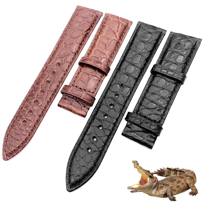 Watchband 12mm 14mm 16mm 18mm 20mm 22mm 24mm Alligator Full-grain Crocodile Grain Genuine Leather Bands Black Brown Watch Strap