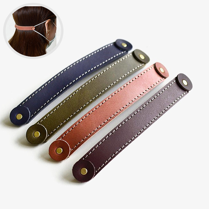 PU Leather Face Mask Fixing Buckle Mask Ear Hooks Buckle Ear Strap Extension For Disposable Mask Dust Ear Pain Prevention