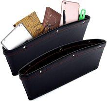 2 PCs Car Seat Gap Filler Organizer Seat Gap Pockets Car Front Seat Side Storage Box Car Interior Accessories for Women and Men